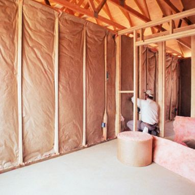 Batting insulation in wall