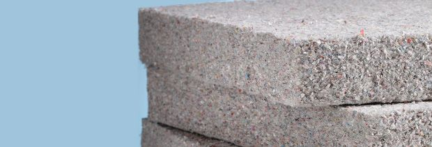 L.L.ClimaticInsulation_Cellulose2: Cellulose insulation slabs stacked on top of each other.